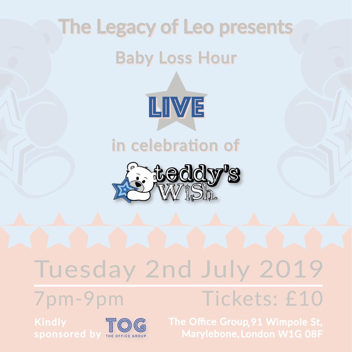 Baby Loss Hour Live London with Teddy's Wish